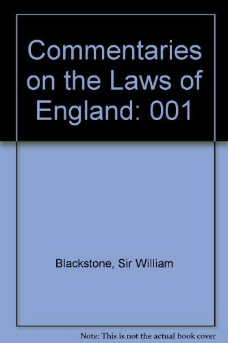 9780226055367: Commentaries on Laws of England