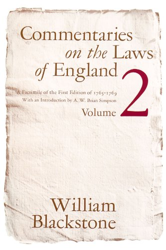 9780226055411: Commentaries on the Laws of England Vol.2