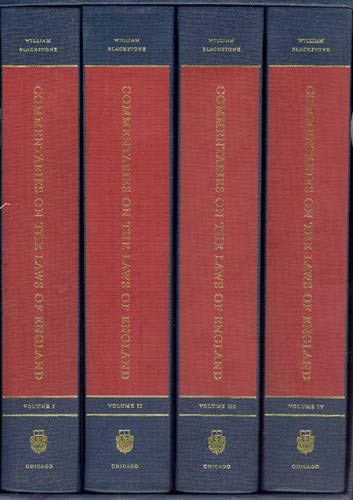9780226055473: Commentaries on the Laws of England, A Facsimile of the First