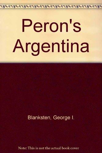 9780226056852: Peron's Argentina