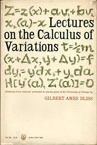 9780226058955: Lectures on the Calculus of Variations (Phoenix Science)