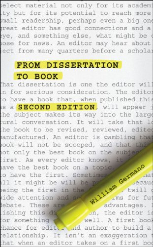 9780226062044: From Dissertation to Book, Second Edition (Chicago Guides to Writing, Editing and Publishing)