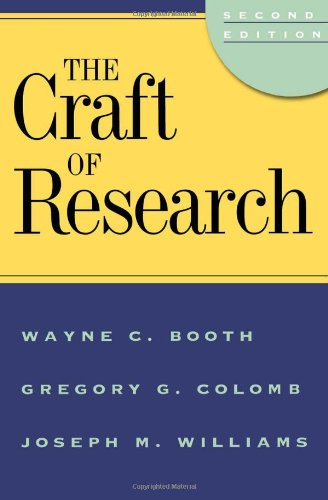 9780226065687: The Craft of Research (Chicago Guides to Writing, Editing and Publishing)