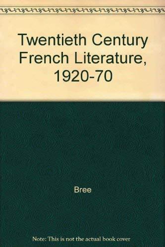 9780226071954: Twentieth-Century French Literature