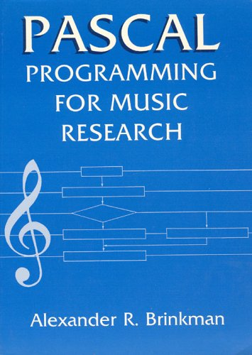 9780226075082: Pascal Programming for Music Research