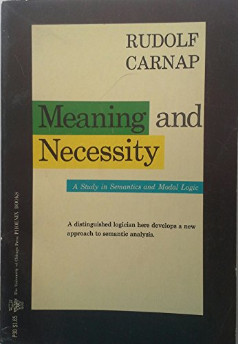 9780226093468: Meaning and Necessity