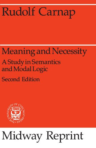 9780226093475: Meaning and Necessity: A Study in Semantics and Modal Logic