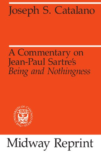 9780226096995: A Commentary on Jean-Paul Sartre's Being and Nothingness (Midway Reprint) (Midway Reprints)