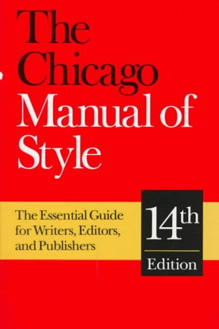 9780226103891: The Chicago Manual of Style: The Essential Guide for Writers, Editors, and Publishers (14th Edition)