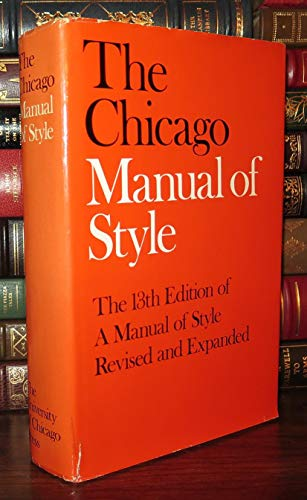 The Chicago Manual of Style: For Authors,: University of Chicago