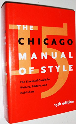 9780226104034: The Chicago Manual of Style