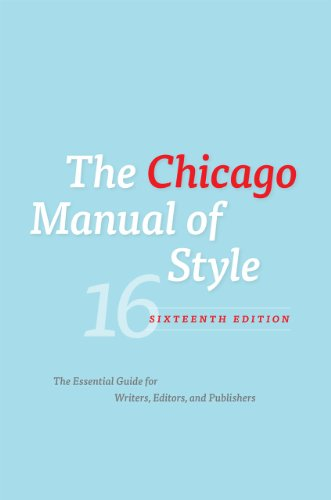 9780226104201: The Chicago Manual of Style, 16th Edition