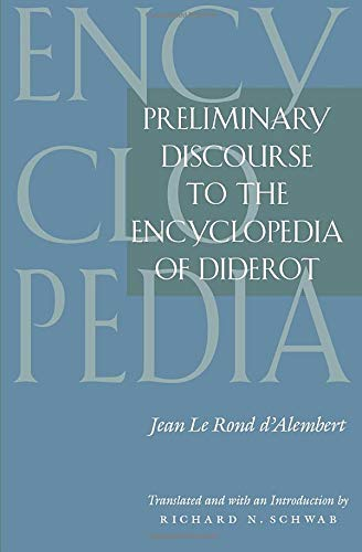 9780226134765: Preliminary Discourse to the Encyclopedia of Diderot