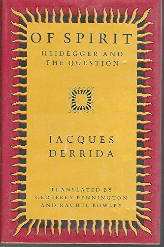 9780226143170: Of Spirit: Heidegger and the Question