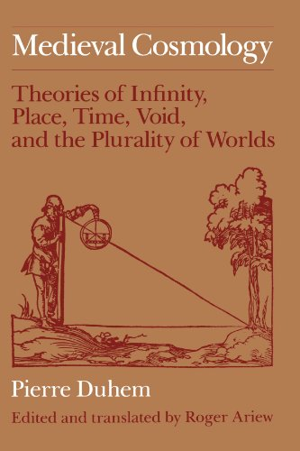 9780226169231: Mediaeval Cosmology: Theories of Infinity, Place, Time, Void and the Plurality of Worlds