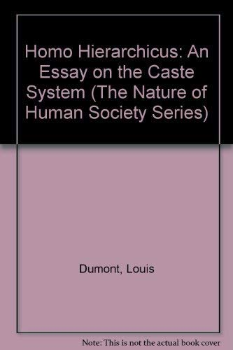 9780226169590: Homo Hierarchicus: An Essay on the Caste System (The Nature of Human Society Series)