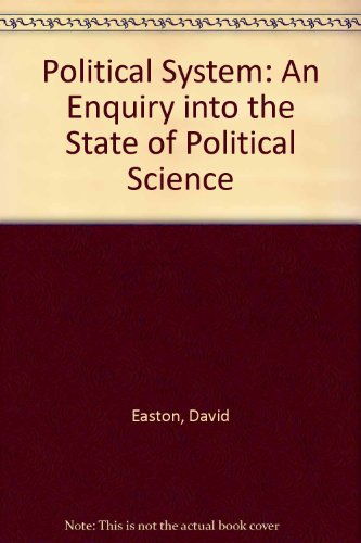 9780226180175: Political System: An Enquiry into the State of Political Science