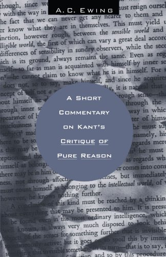9780226227788: A Short Commentary on Kant's Critique of Pure Reason