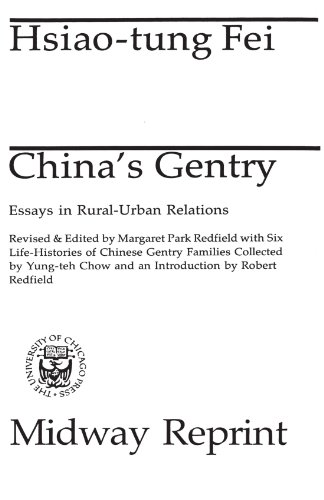 9780226239576: China's Gentry: Essays in Rural-Urban Relations