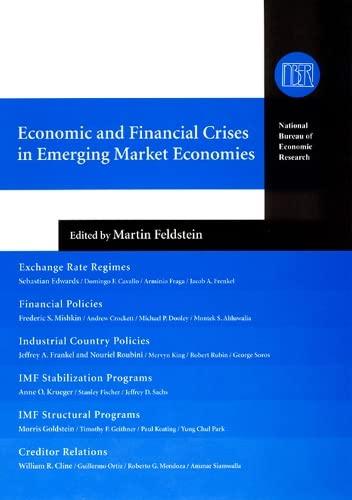 9780226241098: Economic and Financial Crises in Emerging Market Economies (National Bureau of Economic Research Conference Report)