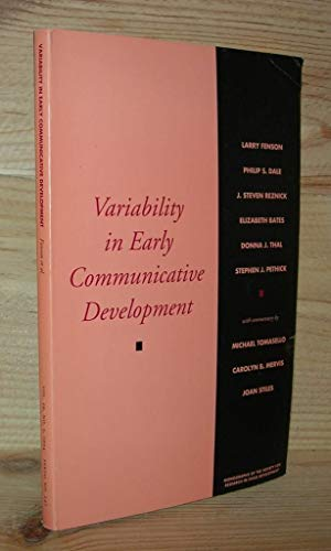 059: Variability in Early Communicative Development (Monographs of the Society for Research in ...