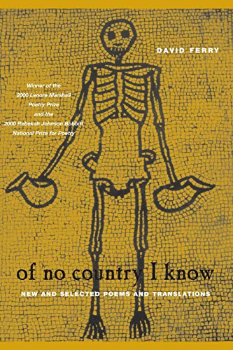 9780226244877: Of No Country I Know: New and Selected Poems and Translations (Phoenix Poets)