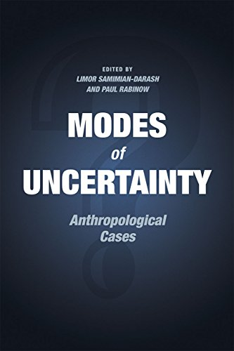 9780226257105: Modes of Uncertainty: Anthropological Cases