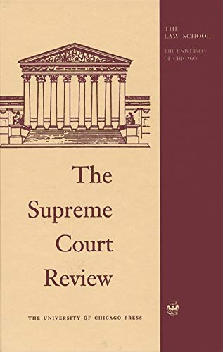 9780226269061: The Supreme Court Review 2014