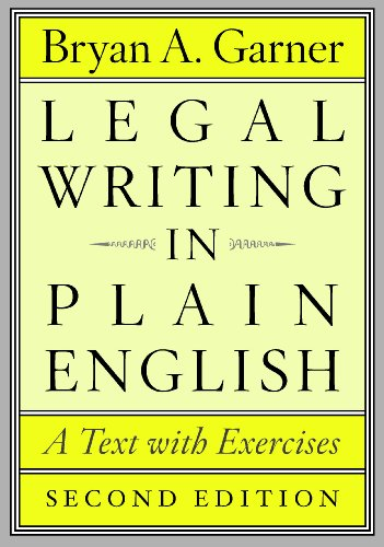 9780226283937: Legal Writing in Plain English: A Text with Exercises (Chicago Guides to Writing, Editing and Publishing)