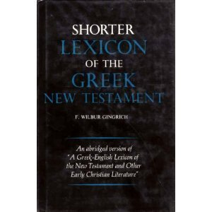 9780226295206: Shorter Lexicon of the Greek New Testament (English and Greek Edition)