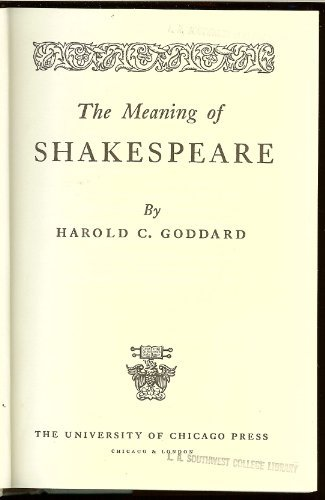 9780226300405: Meaning of Shakespeare