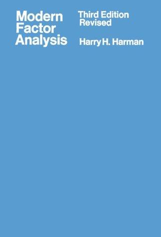 9780226316529: Modern Factor Analysis
