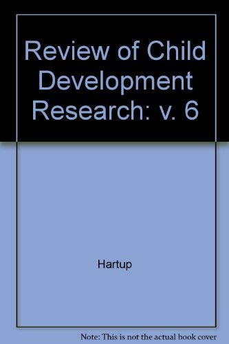 Review of Child Development Research (Review of Child Development Research Ser): Willard Hartup