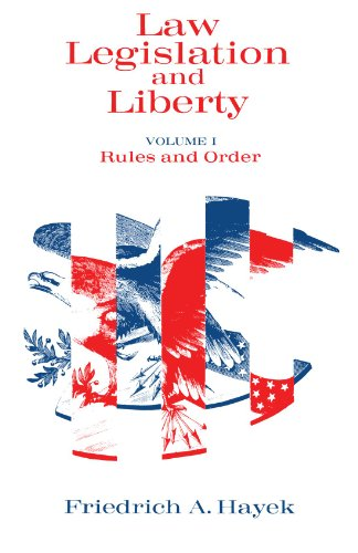 9780226320861: Law, Legislation and Liberty, Volume 1: Rules and Order