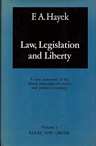 9780226320878: Law, Legislation And Liberty: The Political Order of a Free People: 3