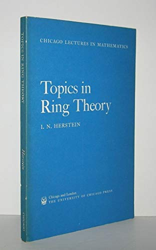 9780226328027: Topics in Ring Theory (Chicago Lectures in Mathematics)