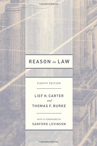 9780226340494: Reason in Law: Eighth Edition