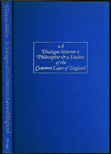 9780226345406: Dialogue Between a Philosopher and a Student of the Common Laws of England