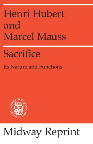 9780226356792: Sacrifice: Its Nature and Functions