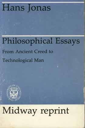 essays on hans jonas In this essay i submit an hypothetical reading of the short notes concerning the practical use of philosophy which hans jonas wrote down at the end of the manuscript of the causes and uses of philosophy.