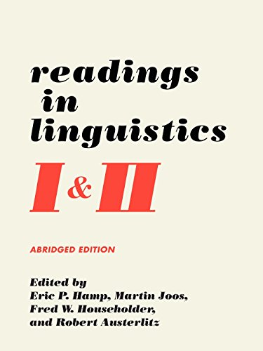 9780226410272: Readings in Linguistics I & II