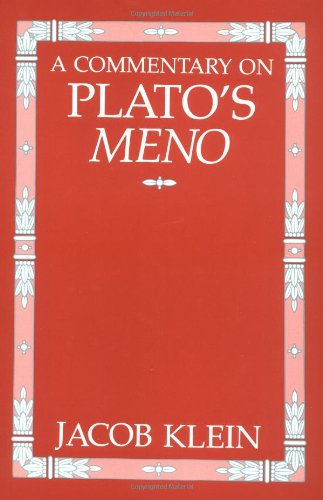 9780226439594: A Commentary on Plato's Meno