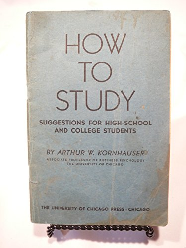 9780226451152: How to Study