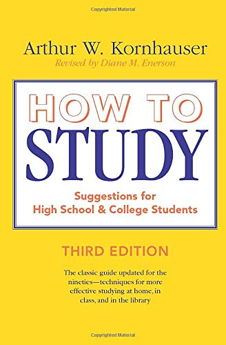 9780226451176: How to Study: Suggestions for High-School and College Students (3rd Edition)