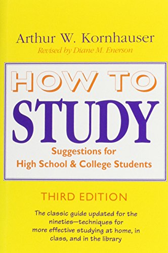 9780226451183: How to Study: Suggestions for High-School and College Students (Chicago Guides to Academic Life)