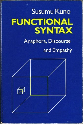 9780226462011: Functional Syntax: Anaphora, Discourse and Empathy