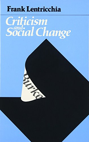 9780226472003: Criticism and Social Change