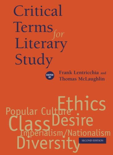 Critical Terms for Literary Study 2nd Edition