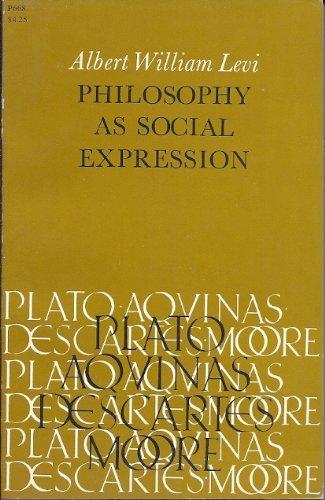 9780226473901: Philosophy as Social Expression (Phoenix Books)