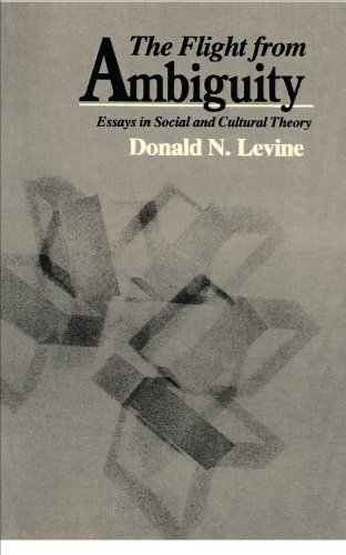 the flight from ambiguity essays in social and cultural theory